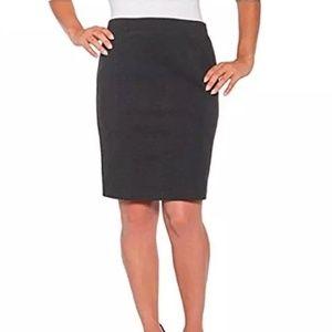 Mario Serrani Black Body-magic Skirt S NWT
